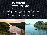 Ancient Egypt Travel Brochure Simplebooklet Com