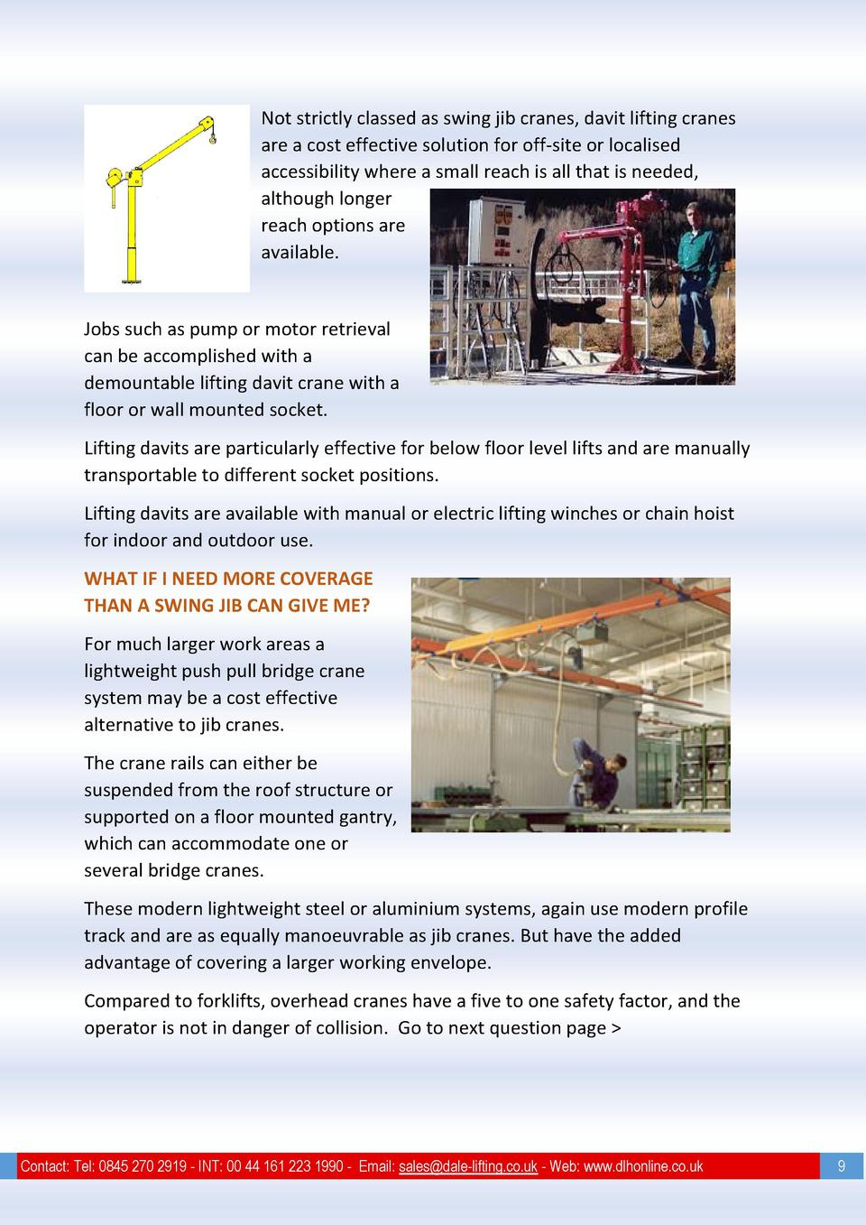 Guide To Swing Jib Cranes Simplebooklet Com