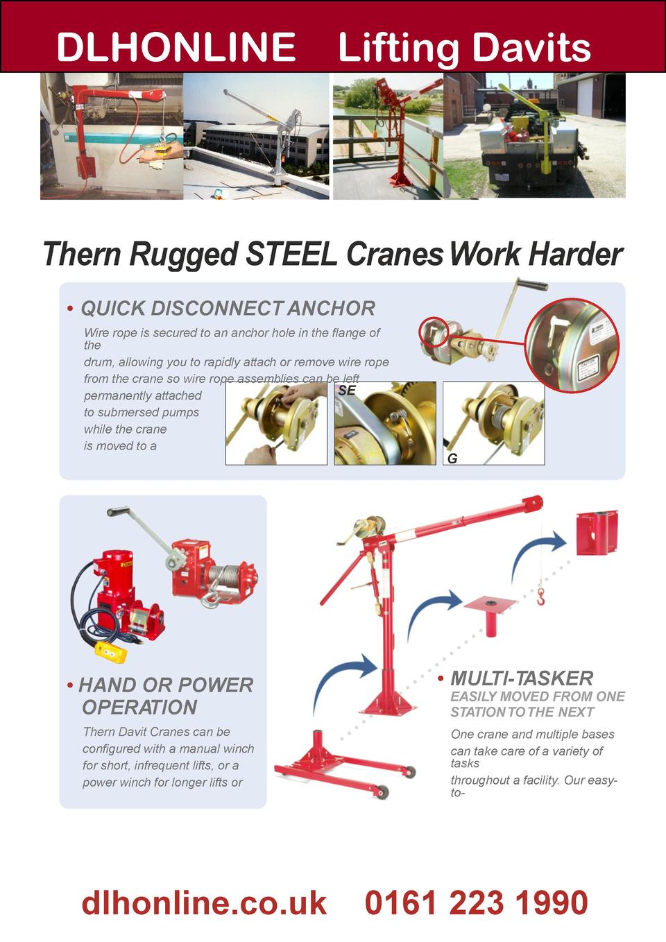 Guide To Lifting Davits Thern Winch Wiring Diagram Dlhonline Rugged Steel Cranes Work Harder Quick Disconnect Anchor Wire Rope Is Secured
