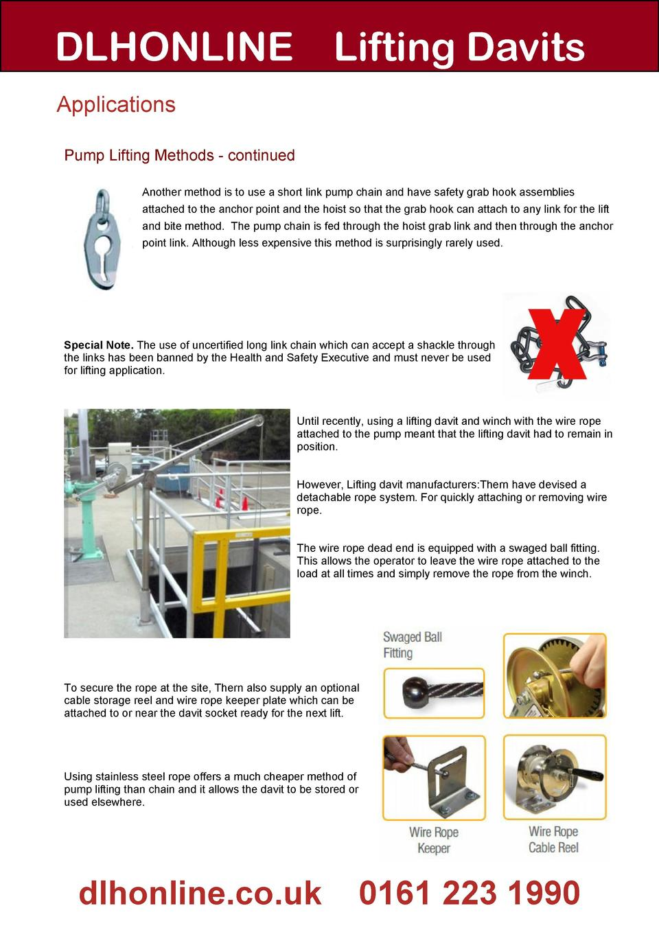 Guide To Lifting Davits Thern Winch Wiring Diagram Dlhonline Applications Pump Methods Continued Another Method Is Use A Short