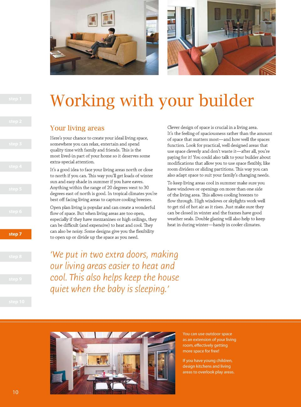 step 1  Working with your builder  step 2  Your living areas step 3  step 4  step 5  step 6  step 7  step 8  step 9  Here ...
