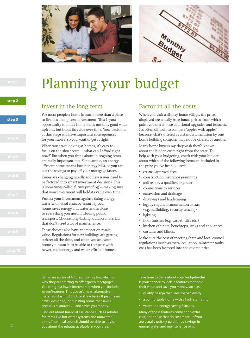 step 1  Planning your budget  step 2  Invest in the long term step 3  step 4  step 5  step 6  step 7  step 8  step 9  step...