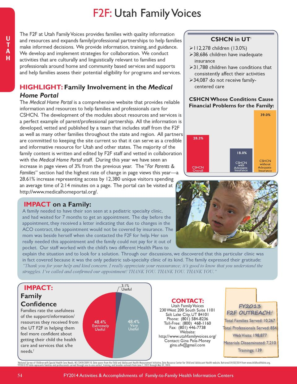 F2F  Utah Family Voices The F2F at Utah Family Voices provides families with quality information and resources and expands...