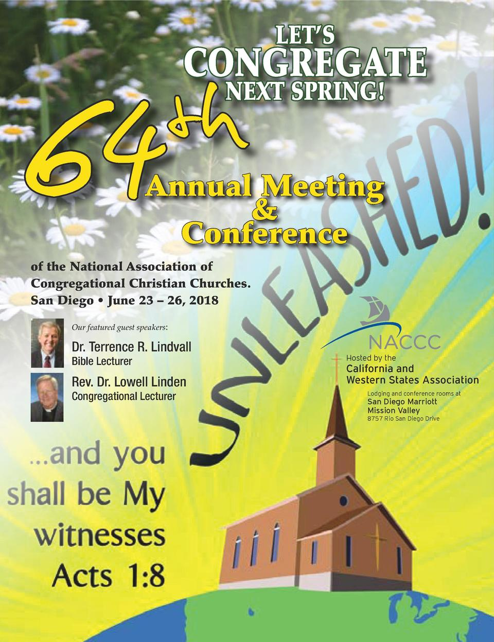 LET   S  64  CONGREGATE  th  NEXT SPRING     GregOlson.com. Used by arrangement.  Annual Meeting   Conference  of the Nati...