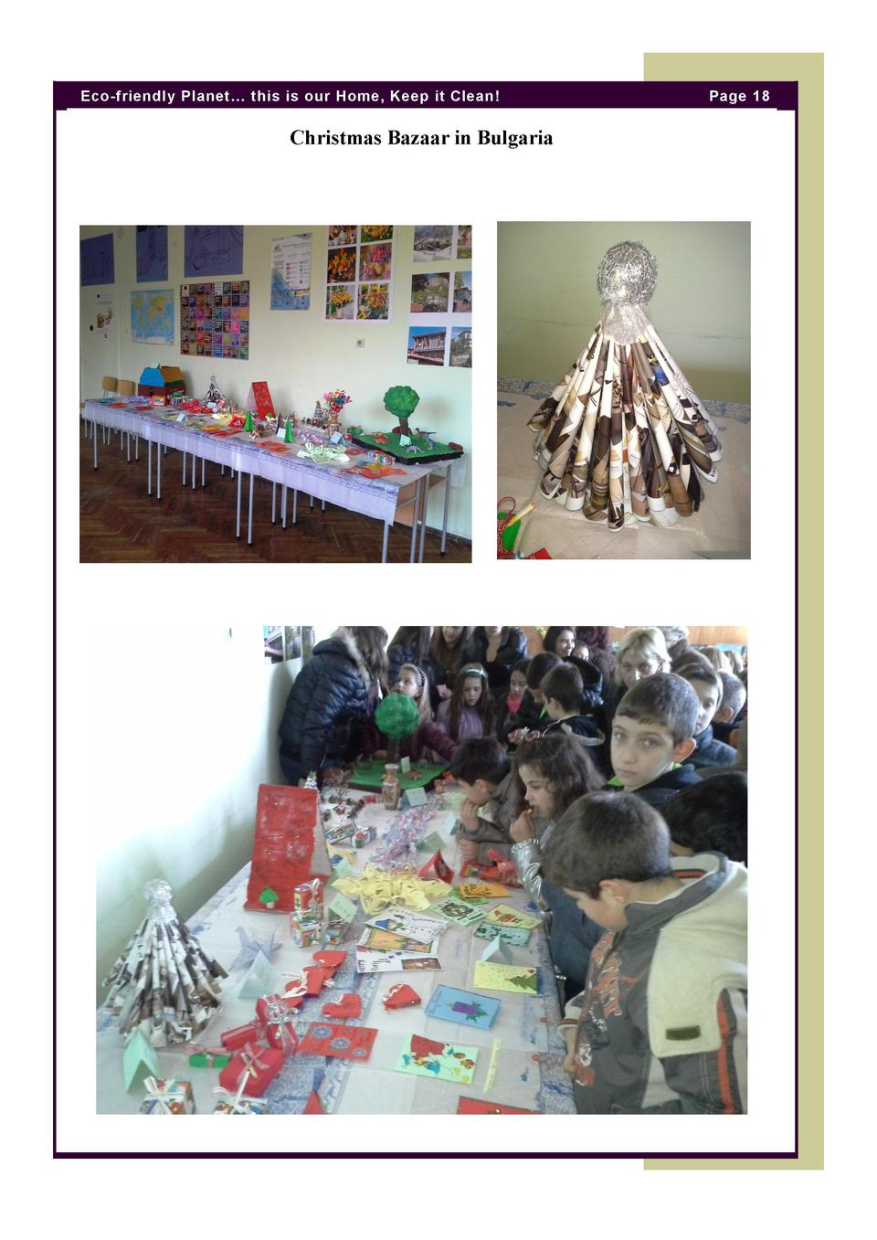 Eco-friendly Planet    this is our Home, Keep it Clean   Christmas Bazaar in Bulgaria  Page 18