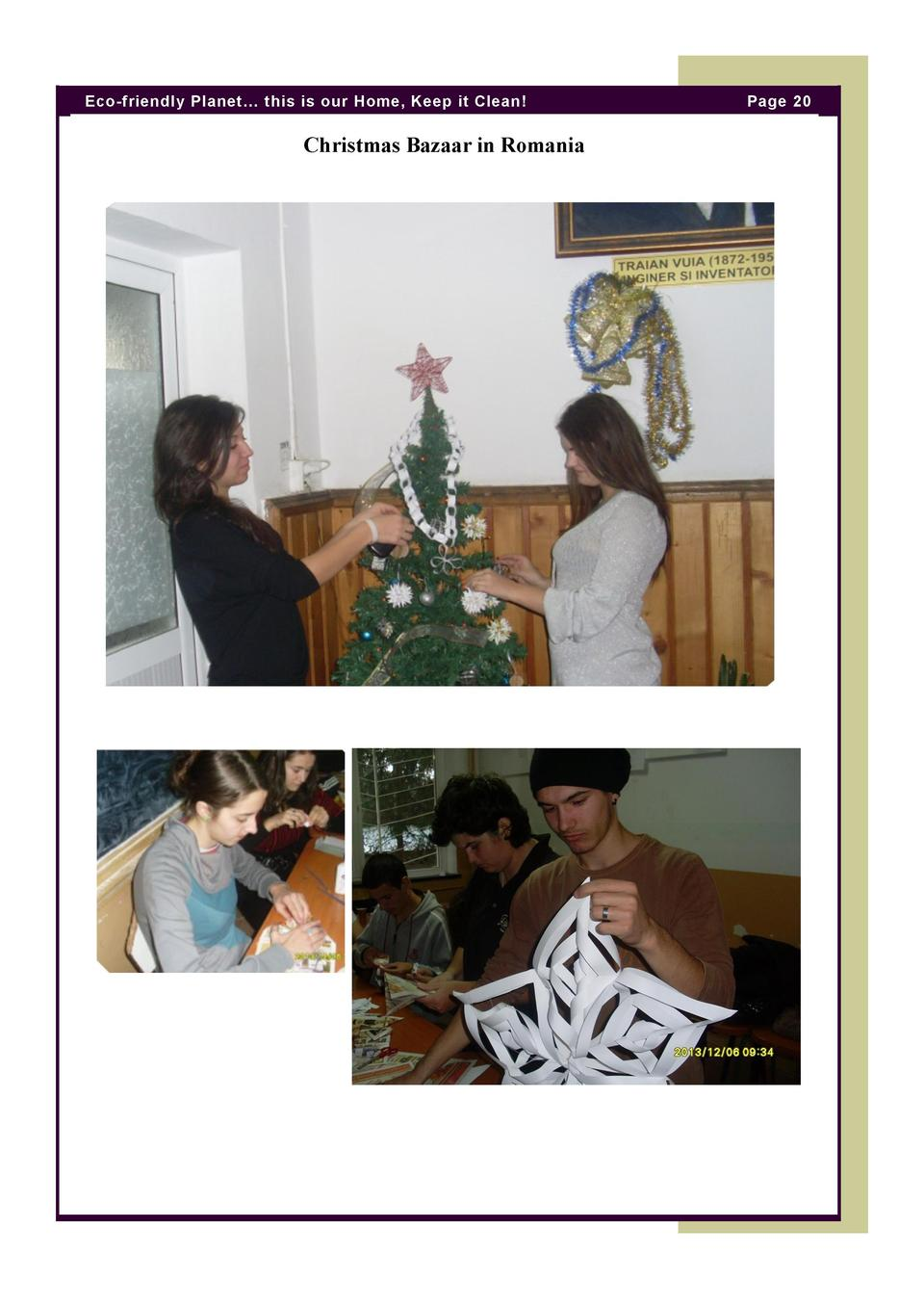 Eco-friendly Planet    this is our Home, Keep it Clean   Christmas Bazaar in Romania  Page 20