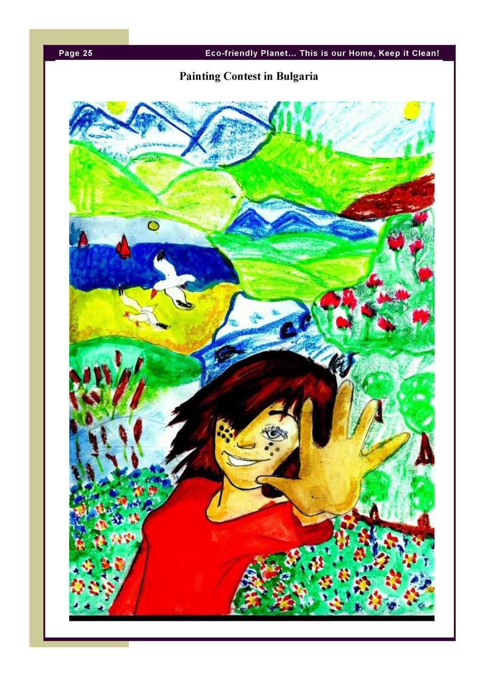 Page 25  Eco-friendly Planet    This is our Home, Keep it Clean   Painting Contest in Bulgaria