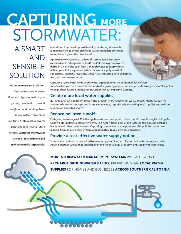 CAPTURING MORE STORMWATER  A SMART AND SENSIBLE SOLUTION It   s a common sense solution. Capture stormwater when flows run...