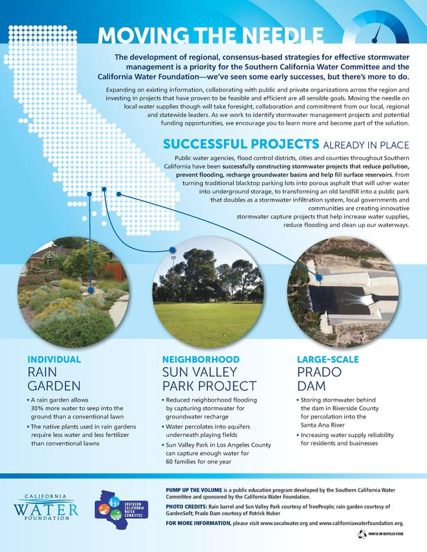 MOVING THE NEEDLE The development of regional, consensus-based strategies for effective stormwater management is a priorit...