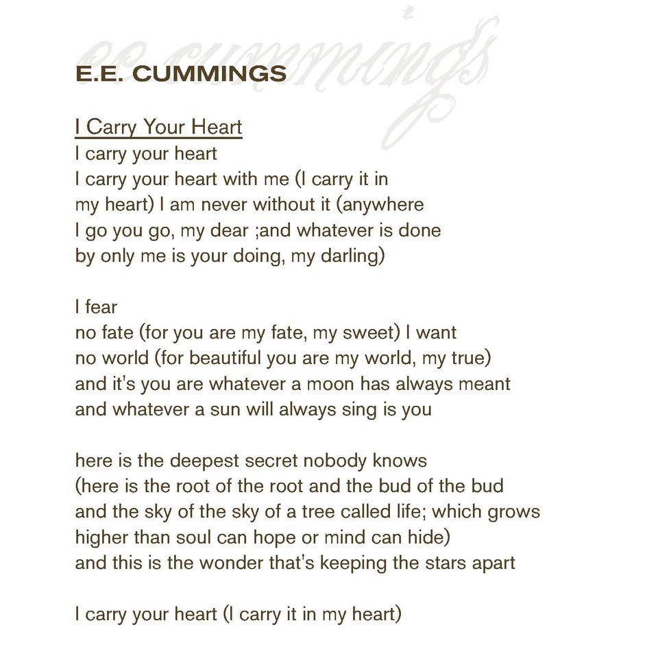 It is from this ee cummings poem