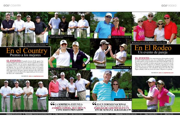 GOLF COUNTRY  golf rodeo  Santiago Ferrer, Camilo Dur  n, Bernardo Nore  a y Math  as Held.  Luis Morales y Ana Mar  a Gut...