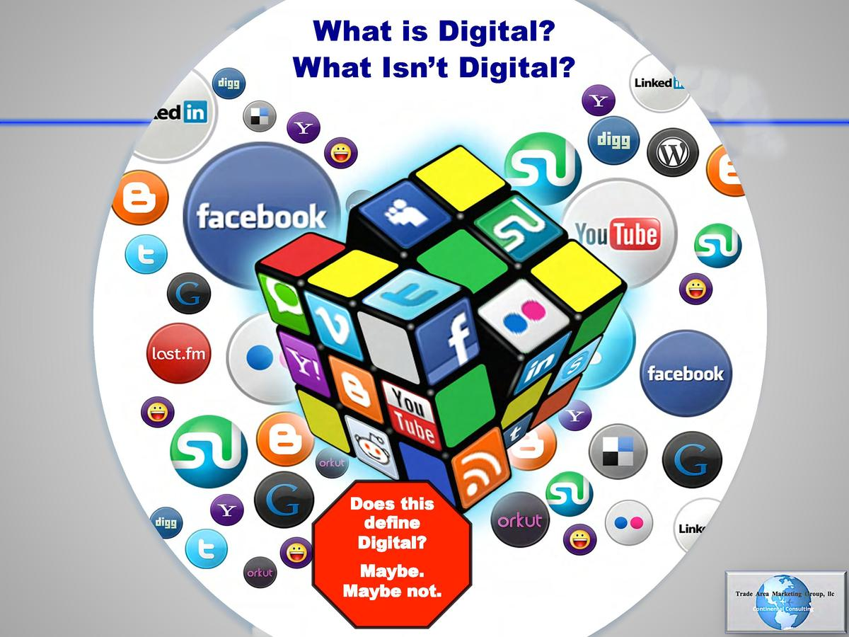 What is Digital  What Isn   t Digital   Does this define Digital  Maybe. Maybe not. 11