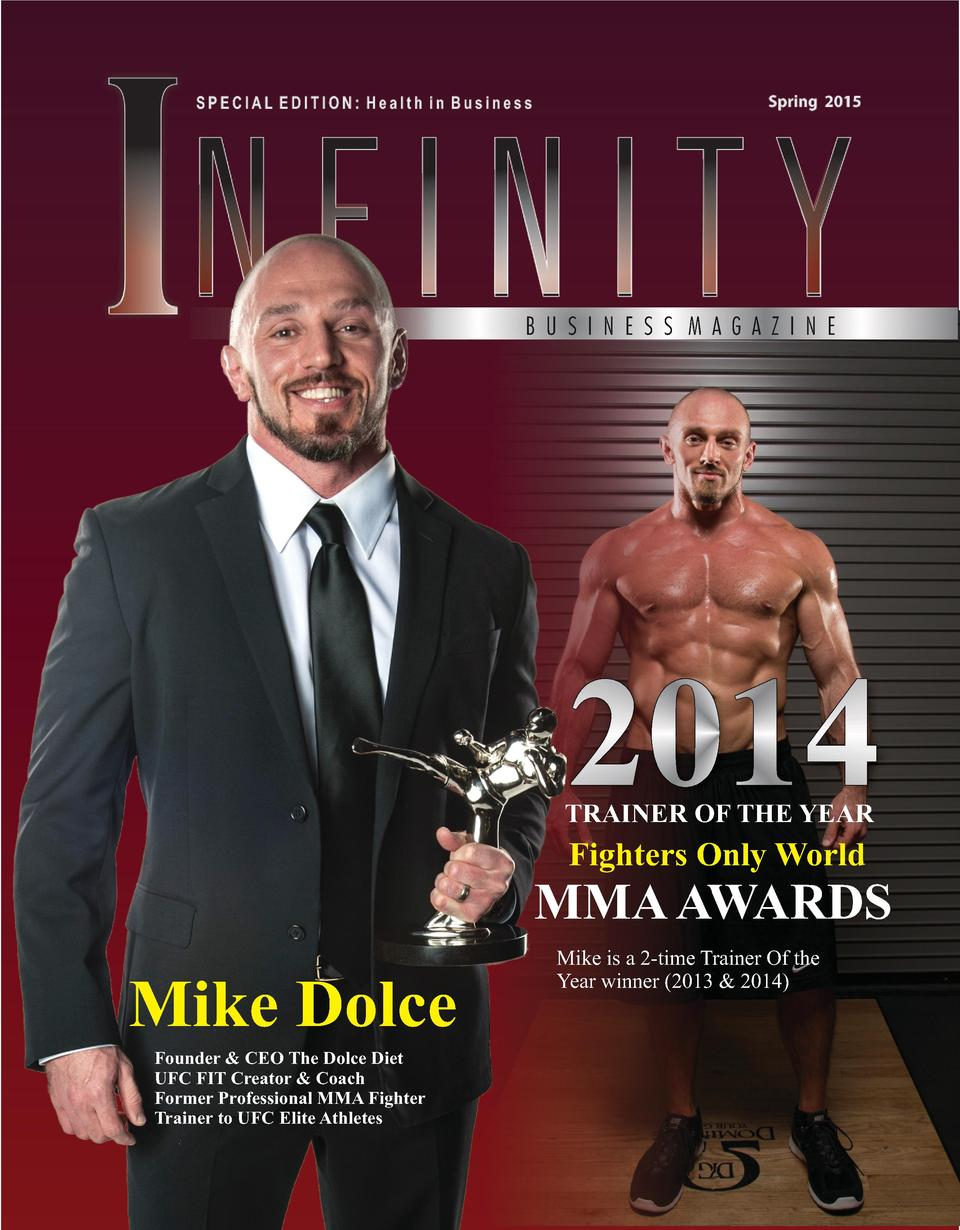 B U S I N E S S M A G A Z I N E  2014  TRAINER OF THE YEAR  Fighters Only World  MMA AWARDS  Mike Dolce Founder   CEO The ...