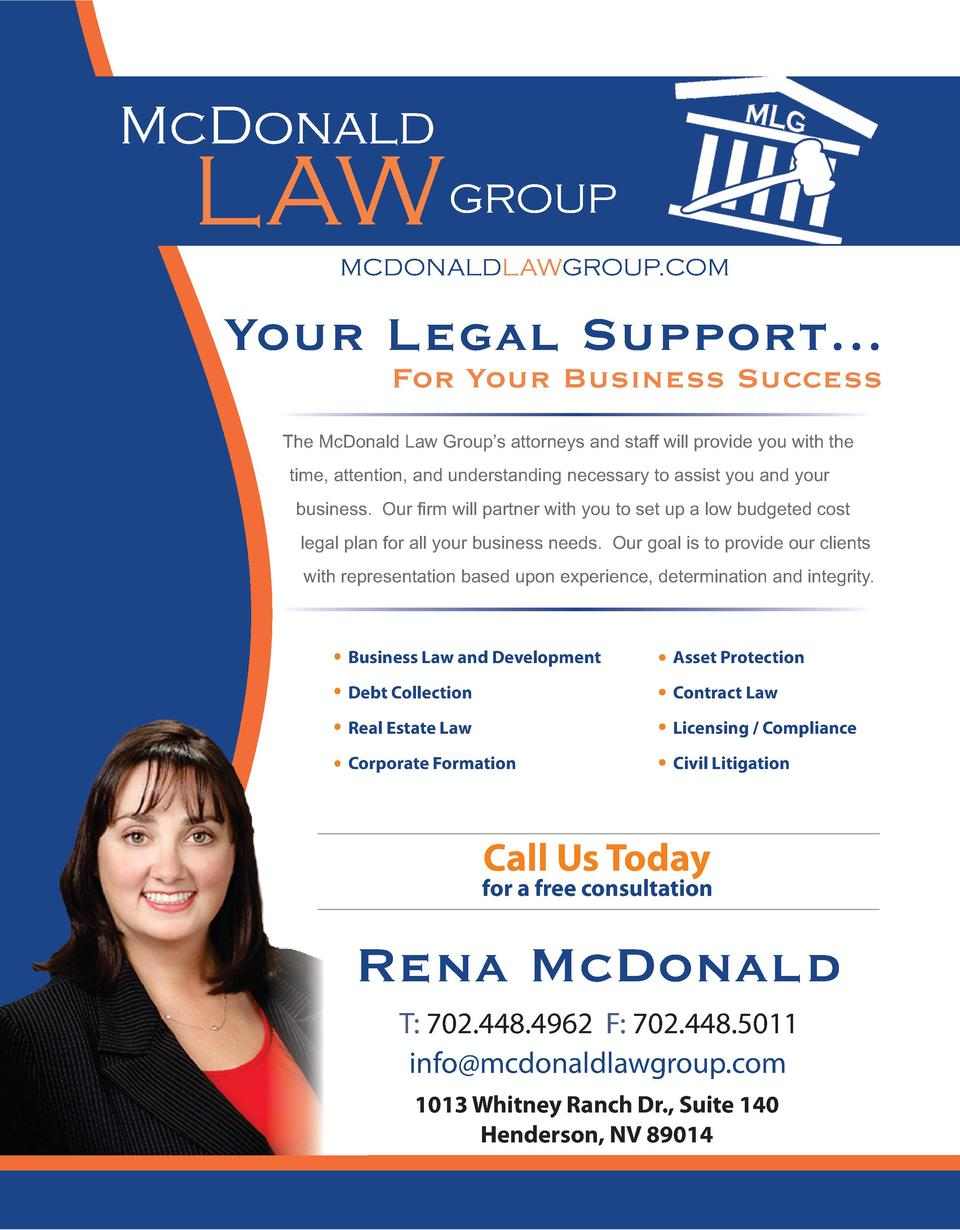 McDonald  LAW GROUP MCDONALDLAWGROUP.COM  Your Legal Support... For Your Business Success  The McDonald Law Group   s atto...