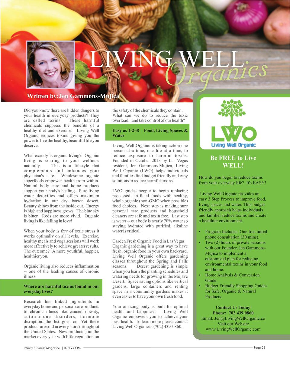 anics Org  LIVING WELL Written by Jen Gammons-Mujica Did you know there are hidden dangers to your health in everyday prod...