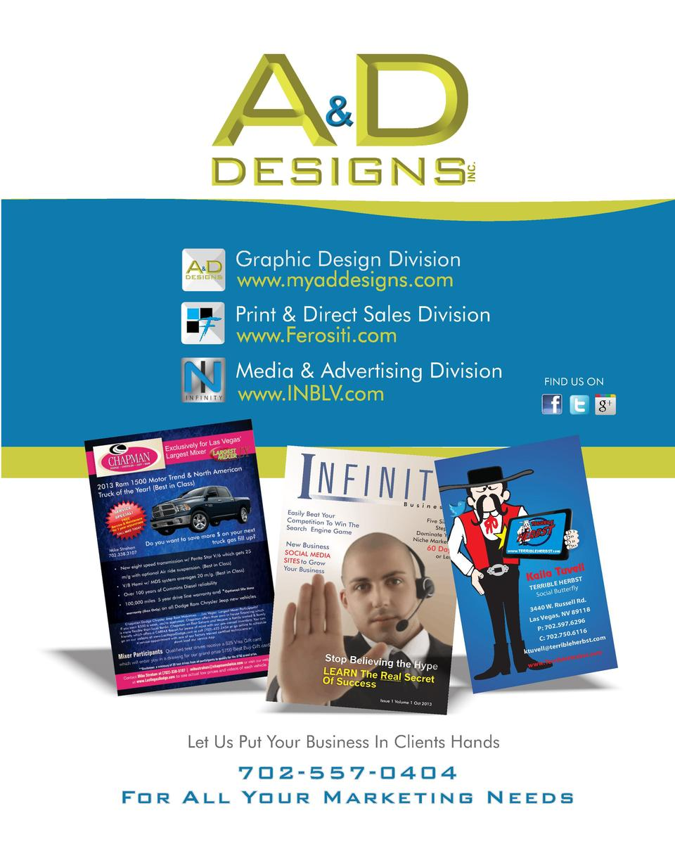 Graphic Design Division Print   Direct Sales Division Media   Advertising Division  FIND US ON  www.TERRIBLEHERBST.com  Tu...