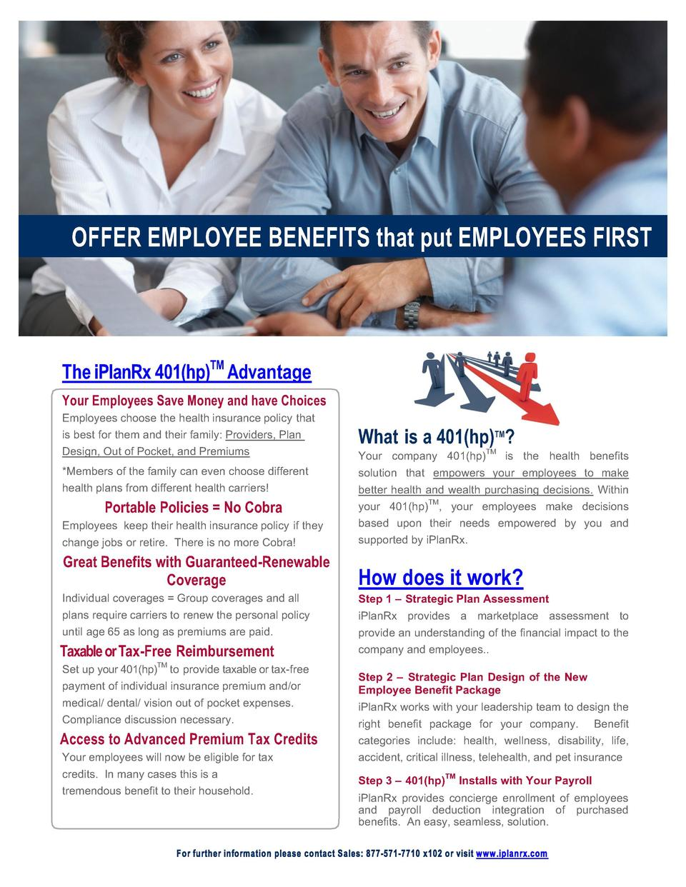 OFFER   EMPLOYEE   BENEFITS   that   put   EMPLO...