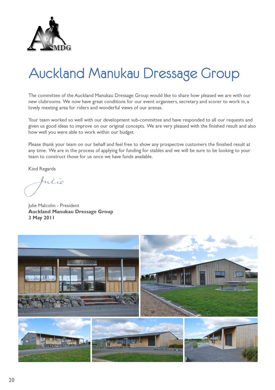 Auckland Manukau Dressage Group The committee of the Auckland Manukau Dressage Group would like to share how pleased we ar...