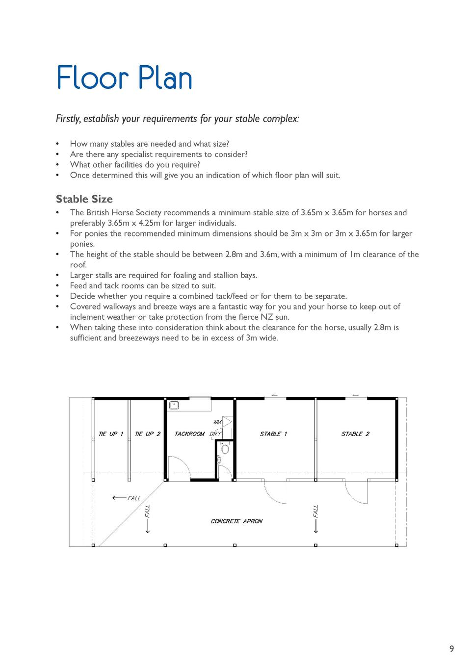 Floor Plan Firstly, establish your requirements for your stable complex                       How many stables are needed ...