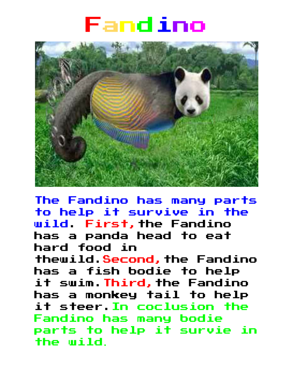 F                    and ino                           The Fandino has many parts to help it survive in the wild       irs...