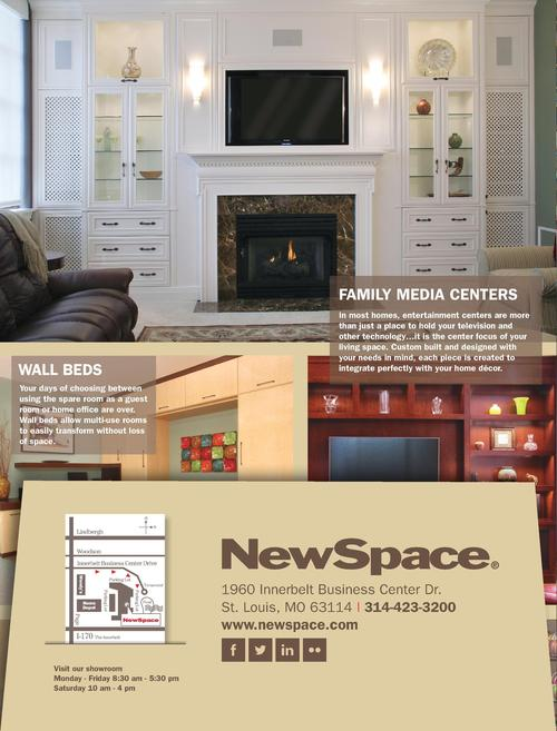 N  ewSpace is a St. Louis based company that designs, builds, and installs organized solutions for your home. We are proud...