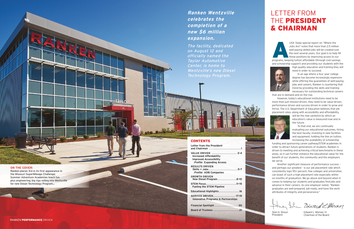 Ranken Wentzville celebrates the completion of a new  6 million expansion. The facility, dedicated on August 12 and offici...