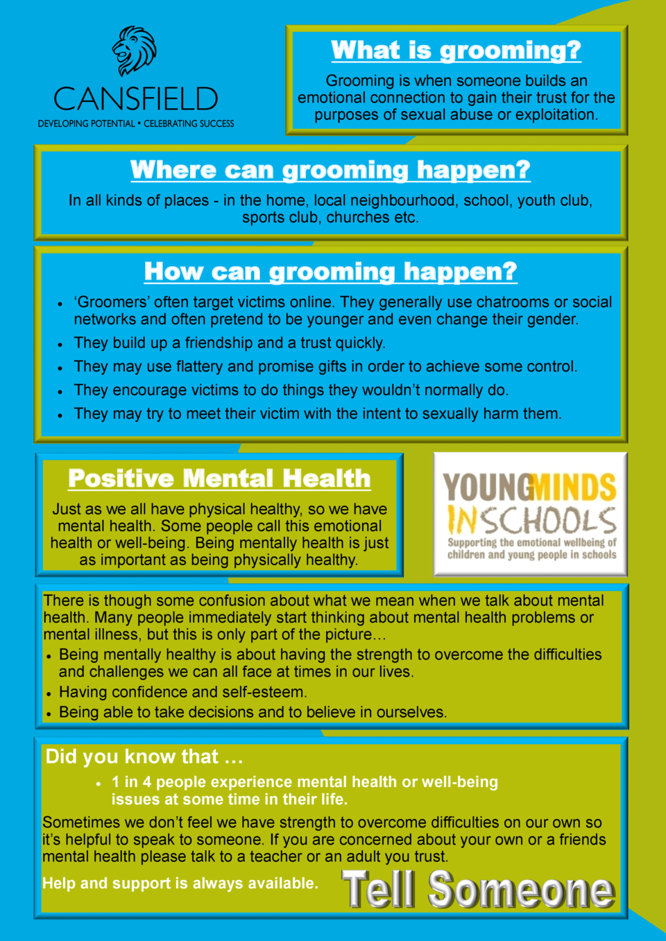 What is grooming  Grooming is when someone builds an emotional connection to gain their trust for the purposes of sexual a...