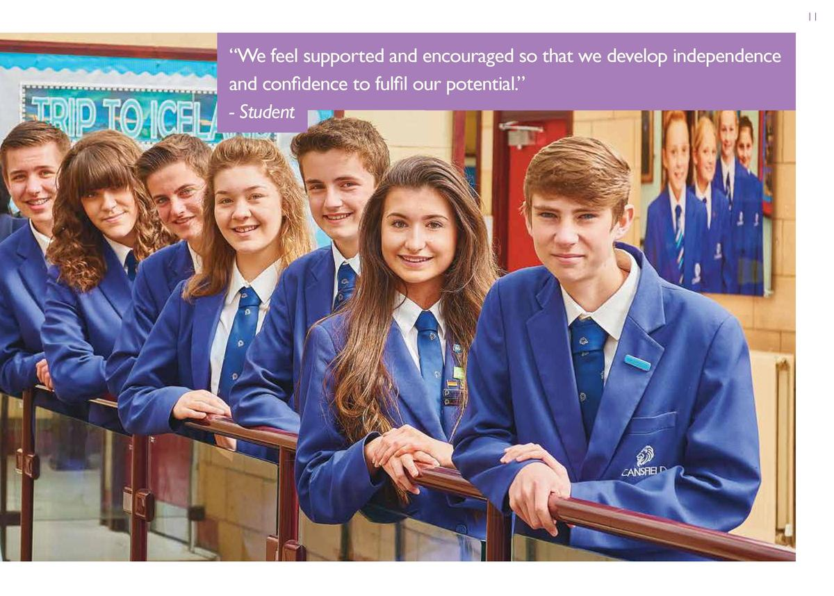 11  Providing Opportunities Extra-curricular opportunities  Going further  We run a Breakfast Club, plus a range of sporti...