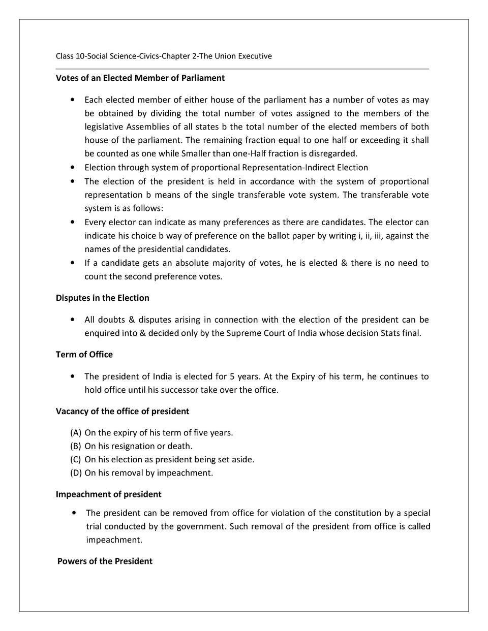 worksheet for class 10 science chapter 1 ncert solutions for class 10 social science civics. Black Bedroom Furniture Sets. Home Design Ideas