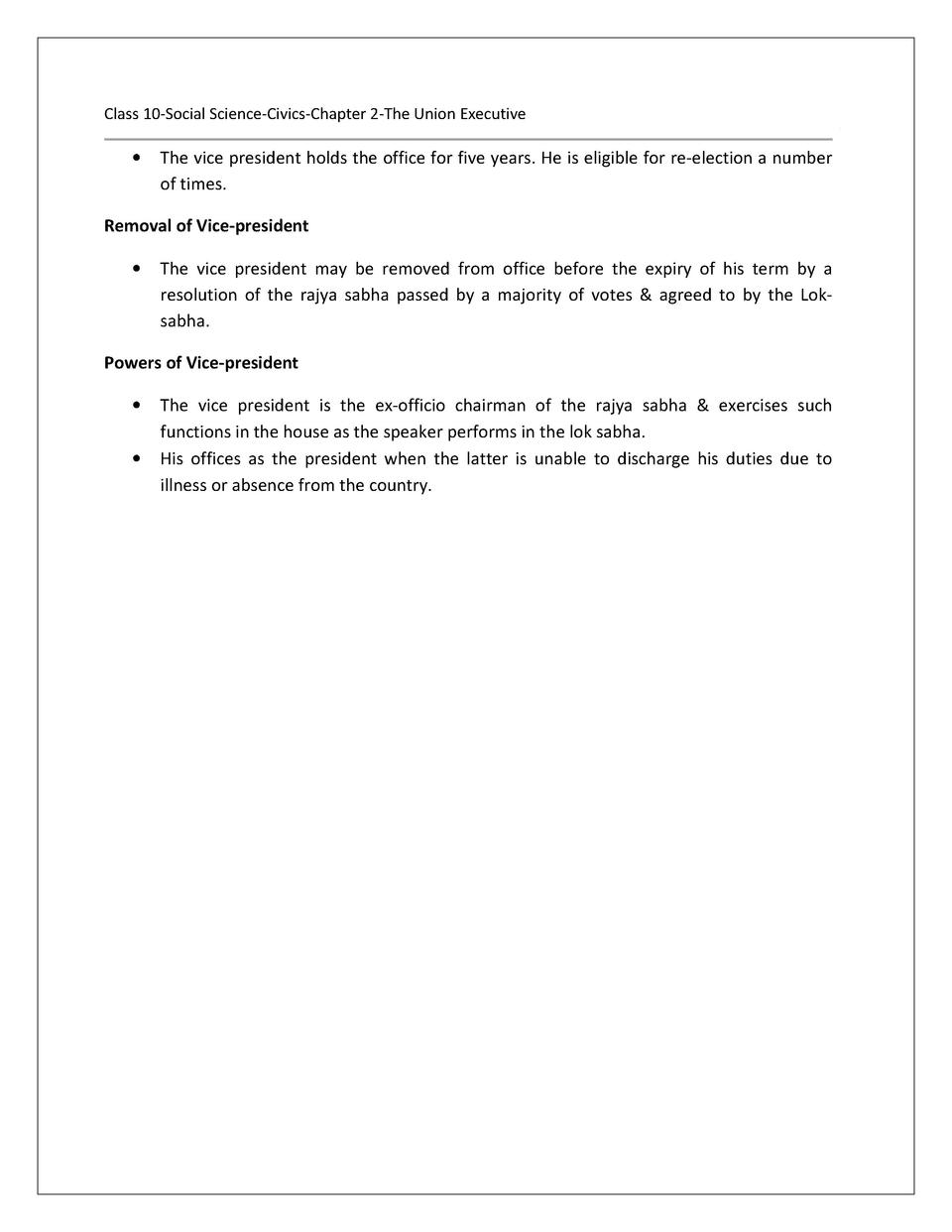 ICSE 10 CIVICS NOTES : simplebooklet com