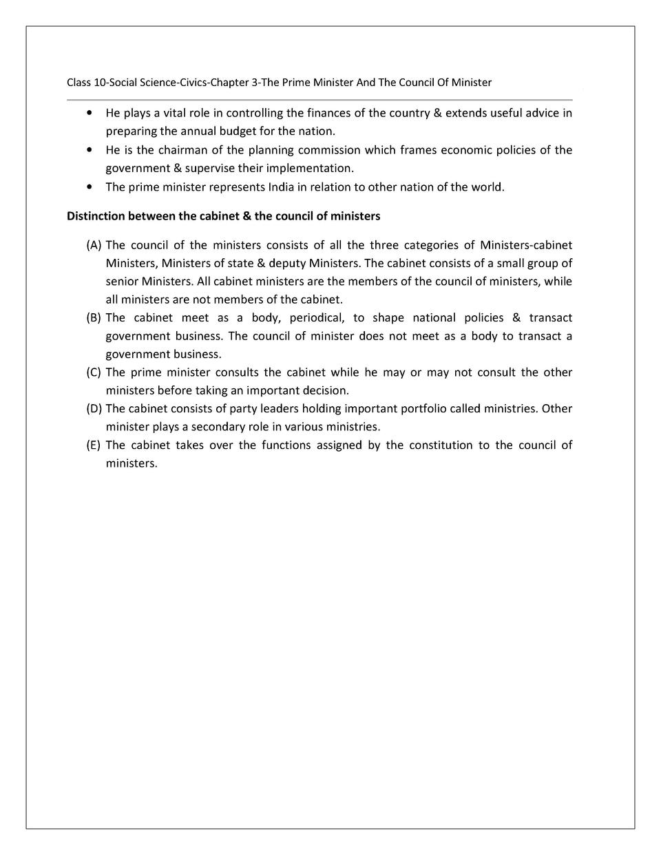 Cabinet Minister Definition - Page 2 - azontreasures.com