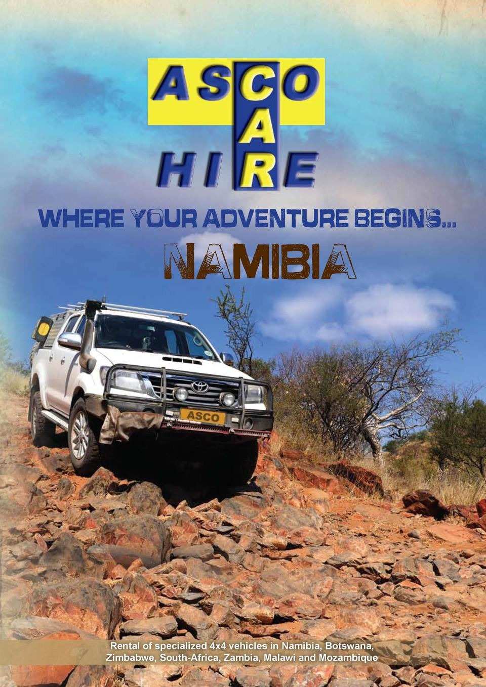 Where your adventure begins...  NAMIBIA  Rental of specialized 4x4 vehicles in Namibia, Botswana, Zimbabwe, South-Africa, ...