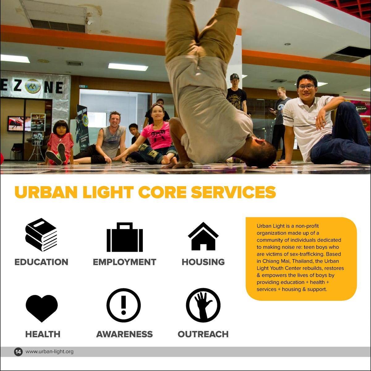 URBAN LIGHT CORE SERVICES  EDUCATION  EMPLOYMENT  HOUSING  HEALTH  AWARENESS  Urban Light is a non-profit organization mad...