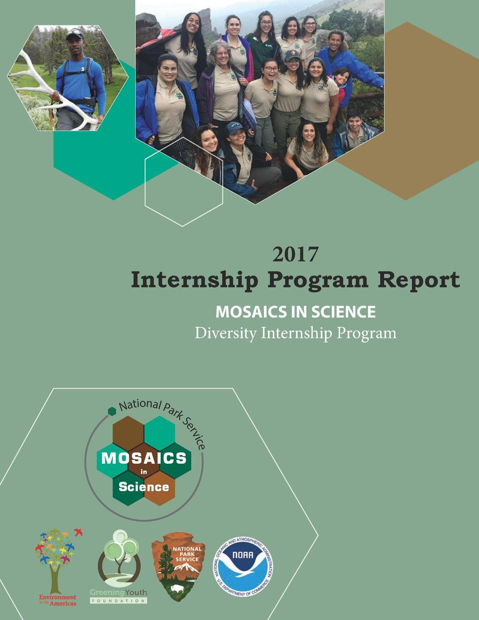 2017 Internship Program Report MOSAICS IN SCIENCE Diversity Internship Program  National Park  S ice erv