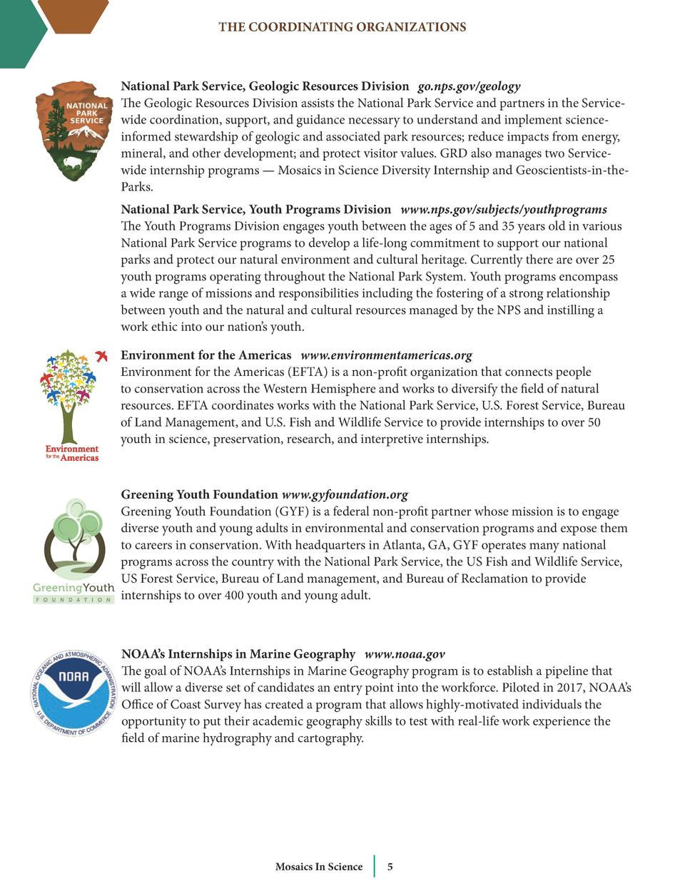 THE COORDINATING ORGANIZATIONS  National Park Service, Geologic Resources Division go.nps.gov geology The Geologic Resourc...