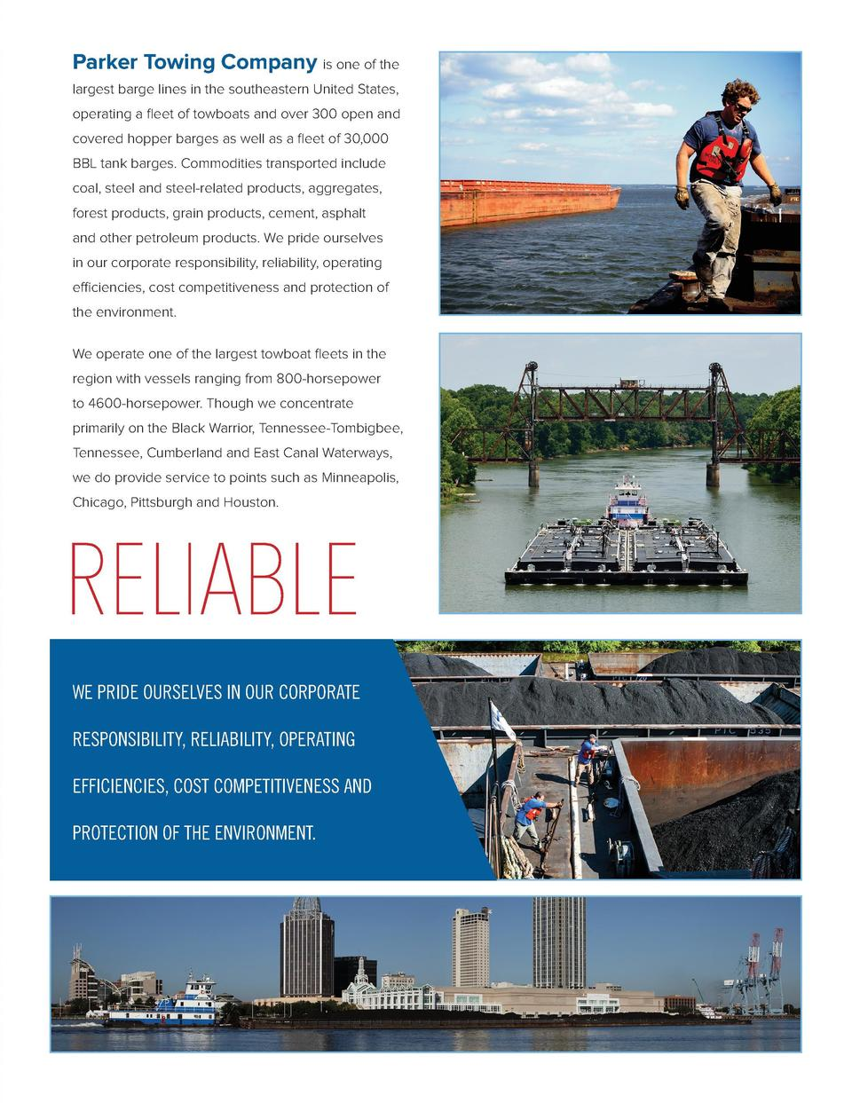 Parker Towing Company is one of the largest barge lines in the southeastern United States, operating a fleet of towboats a...
