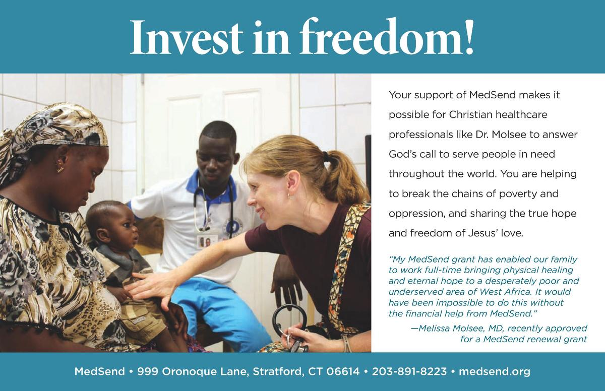 Invest in freedom  Your support of MedSend makes it possible for Christian healthcare professionals like Dr. Molsee to ans...