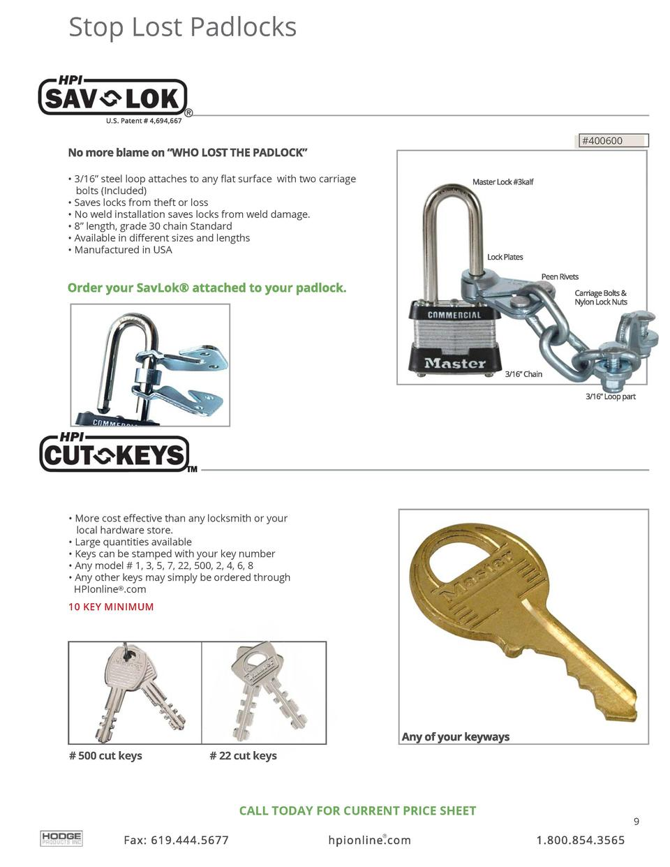Stop Lost Padlocks   400600      3 16    steel loop attaches to any    at surface with two carriage bolts  Included      S...