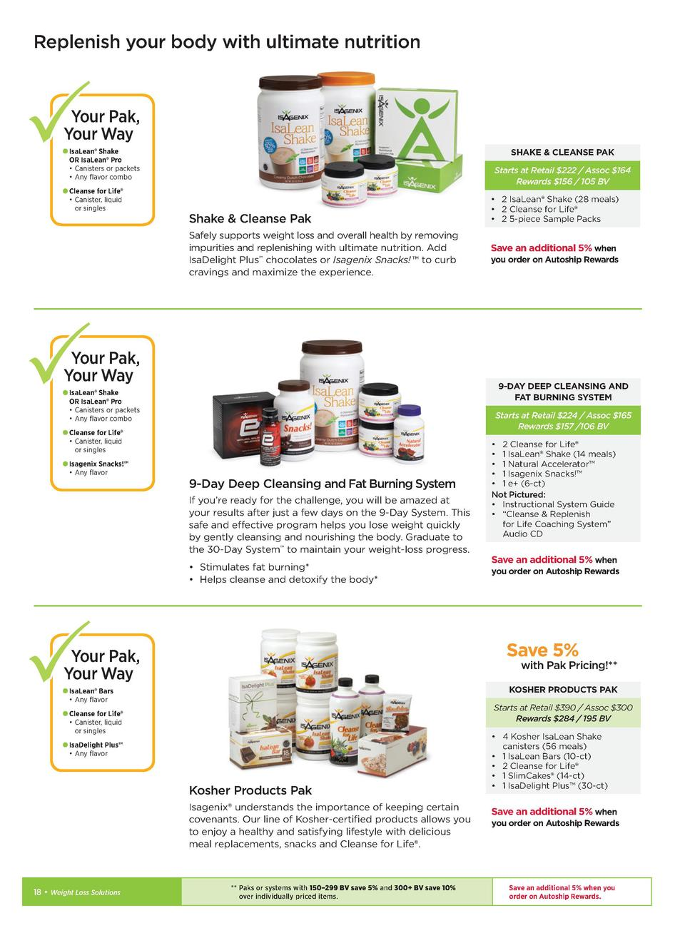 Solutions to transform lives simplebooklet replenish your body with ultimate nutrition your pak your way isalean shake or isalean pro malvernweather Images