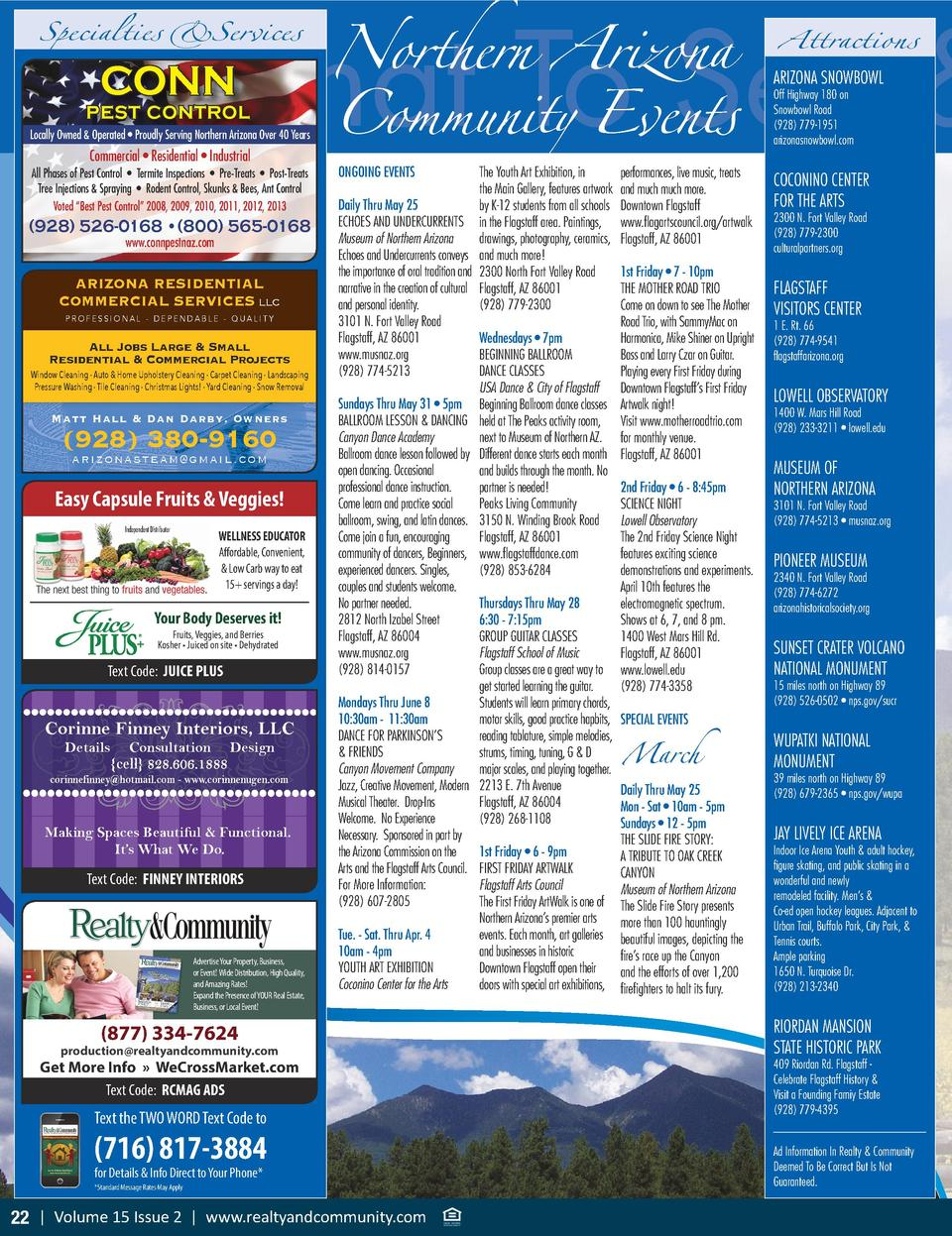 Northern Arizona Attractions attractions, spec What To See   Community Events  Specialties  Services CONN  ARIZONA SNOWBOW...