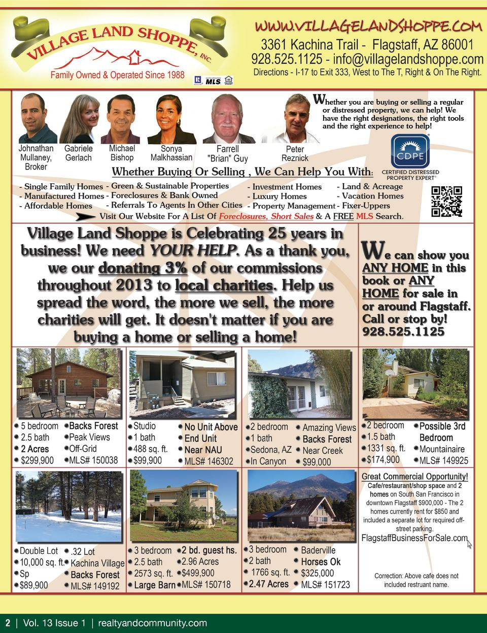 2   Vol. 13 Issue 1   realtyandcommunity.com