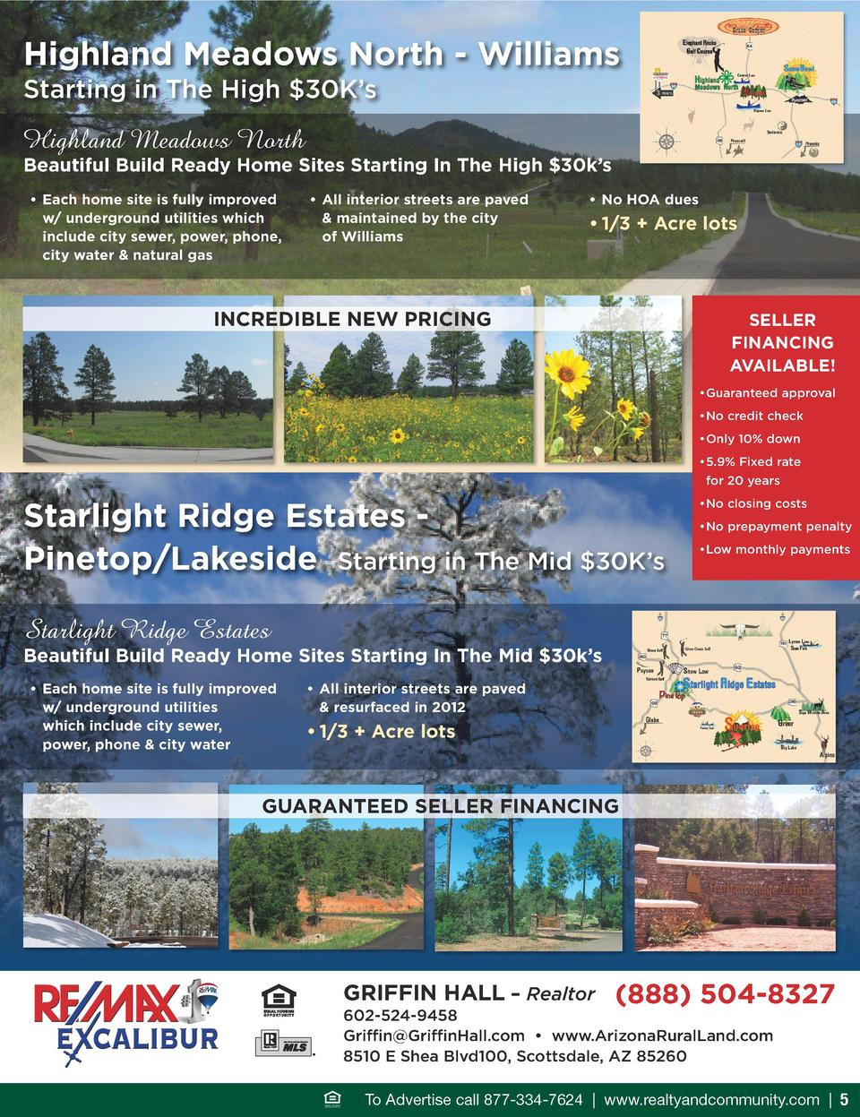Highland Meadows North - Williams Starting in The High  30K   s  Highland Meadows North  beautiful build ready Home Sites ...
