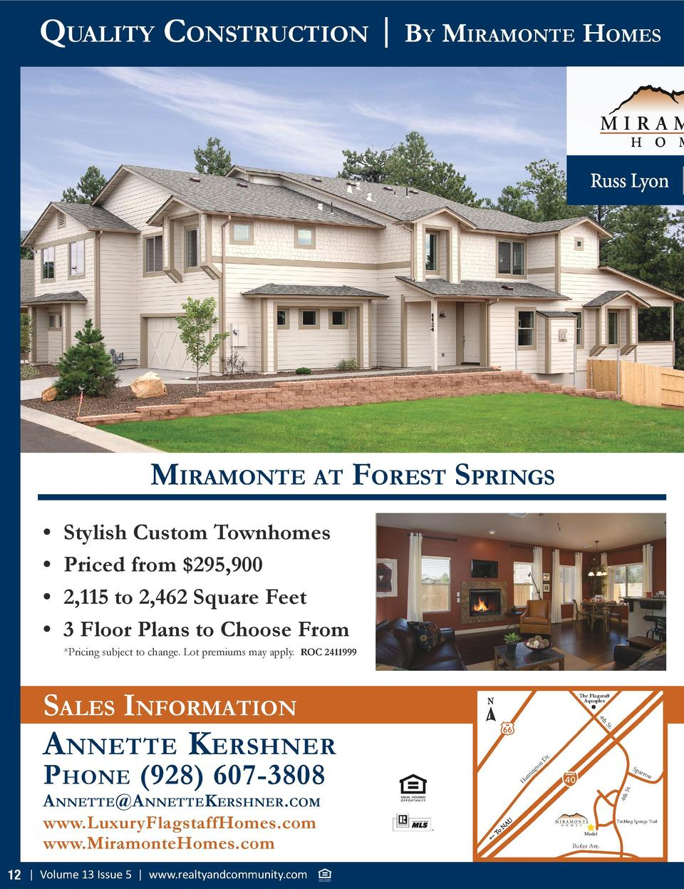 Quality ConstruCtion   By MiraMonte HoMes  MiraMonte at forest sPrings                  Stylish Custom Townhomes Priced fr...