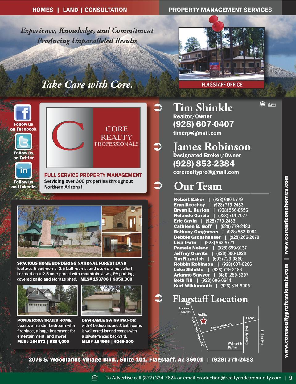 PROPERTY MANAGEMENT SERVICES  HOMES   LAND   CONSULTATION  Experience, Knowledge, and Commitment Producing Unparalleled Re...