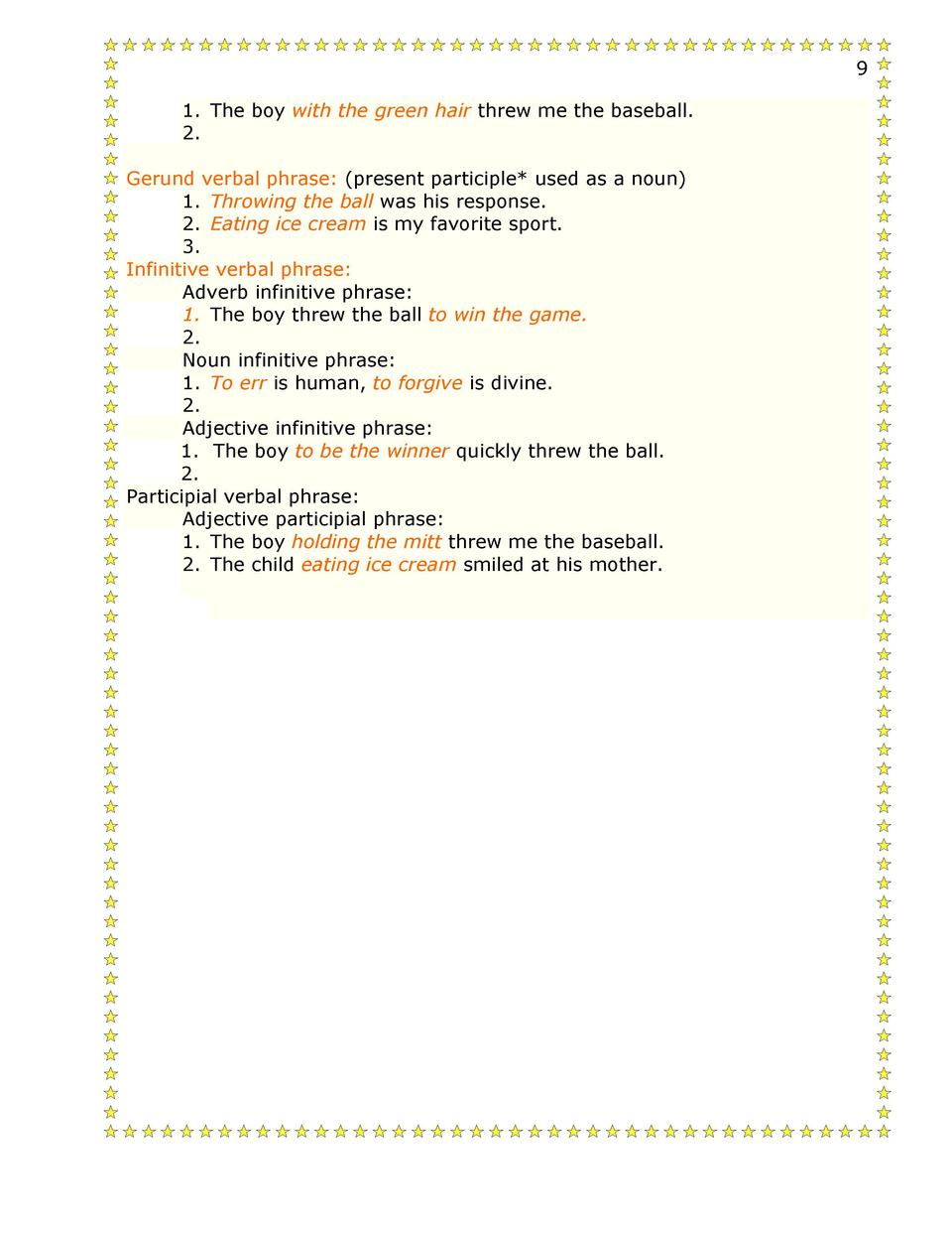 Participial Phrases Worksheet – Participial Phrase Worksheet