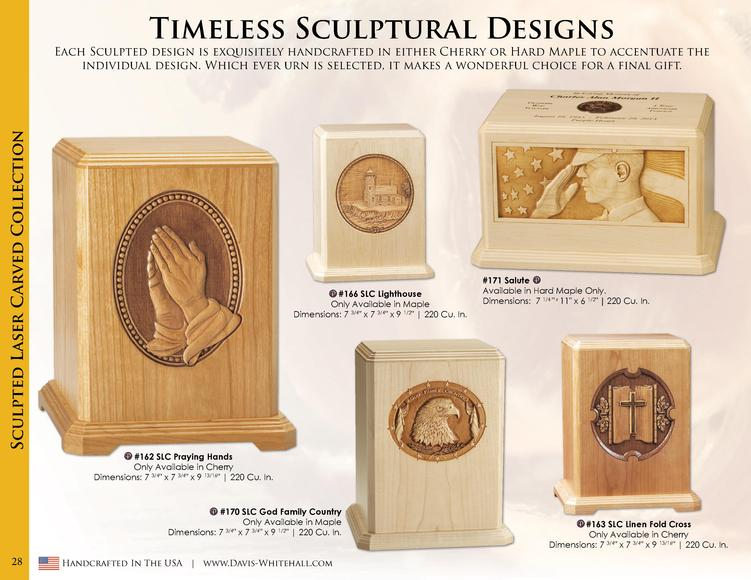 Timeless Sculptural Designs  Sculpted Laser Carved Collection  Each Sculpted design is exquisitely handcrafted in either C...