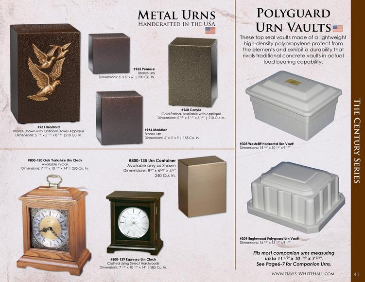 Metal Urns Handcrafted in the USA  Polyguard Urn Vaults These top seal vaults made of a lightweight high-density polypropy...