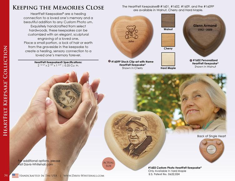 HeartFelt Keepsake   Collection  Keeping the Memories Close HeartFelt Keepsakes   are a healing connection to a loved one ...
