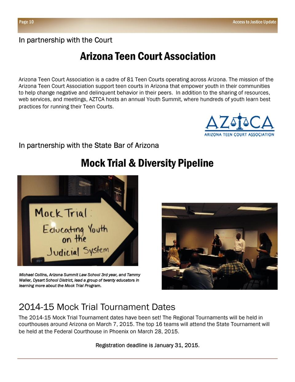 Consider, that Court association arizona teen courts can not