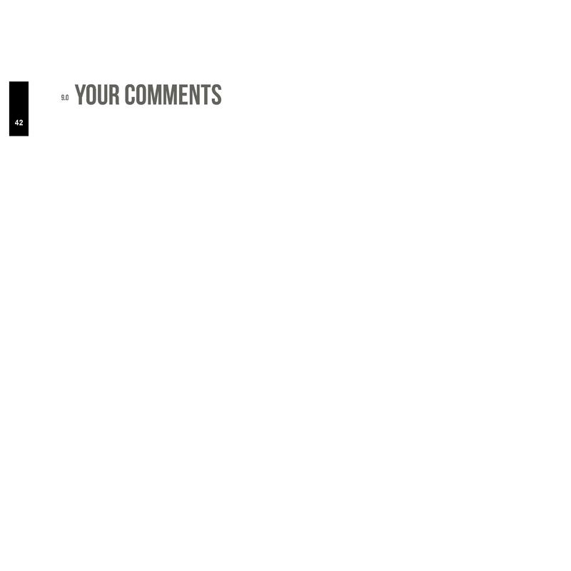 9.0 42  YOUR COMMENTS